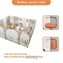 14 Panel Foldable Kids Safety Enclosure New Customized Baby Playpen Safety Zone