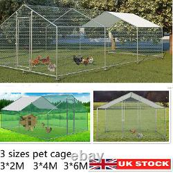 3 Sizes Chicken Run Walk In Pen Coop Cage Hens Dogs Poultry Ducks Enclosure Pet