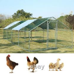 3M-8M Chicken Run Dog Pet Runs Poultry Whelping Pen Enclosure Walk in Coop+ Roof