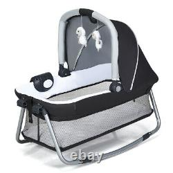 4 in 1 Baby Crib Foldable Playpen Portable Infant Travel Bassinet Bed Cot Bed