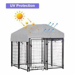 4'x4'x4.3' OutDoor Heavy Duty Playpen Welded Dog Kennel with Water-Resistant Cover
