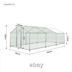 6Mx3M Chicken Run Walk In Pen Coop Cage Hen Bird Poultry Duck Enclosure with Cover