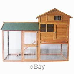 7ft Large Rabbit Hutch With Run Pet House Home Ferret And Guinea Pig Pen Cage