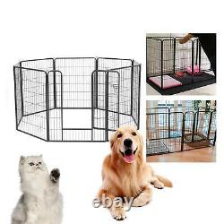 8 Panel Foldable Pet Play Pen Puppy Dog Animal Cage Run Fence Exercise big Cage