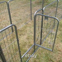8 Panel Heavy Duty Pet Playpen Cage For Dog Rabbit Metal Run Fence Enclosure