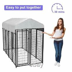 8'x4'x6' OutDoor Heavy Duty Playpen Dog Kennel with Roof Water-Resistant Cover