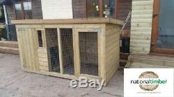 8ft x 4ft TANALISED DOG KENNEL & RUN EXERCISE PEN 8X4
