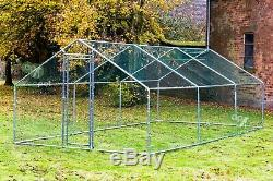 Alphapet Chicken Run Coop Cage Pen Waterfowl Enclosure for Hens Dogs Poultry New