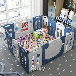 Baby Playpen 14 16 18 Panels Large Foldable Kids Safety Play Yard Fence Toddler
