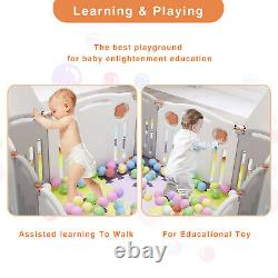 Baby Playpen Folding Fence Kids Safety Plastic- 16 Panel, 26/16 Pieces Play Mat