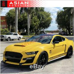 CONVERSION BODY KIT GT500 for FORD MUSTANG 2015 2017 FRONT BUMPER SIDE SKIRTS