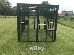 Cat Run Green Catio Enclosure Play Pen 6ft x 9ft or 8ft x 12ft Green Wire