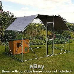 Chicken Coop 2m X 3m Walk In Pet Cage Hen House Rabbit Hen Cage Pen Metal Door