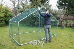 Chicken Dog Pen Run Cage Coop House Kennel Walk In Large Metal 3 x 2m FREE Shade