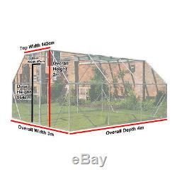 Chicken Run 4m X 3m Walk In Pet Cage Coop For Dog Rabbit Hen Cage Pen Metal Door
