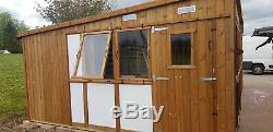 Commercial wooden cattery cat pen