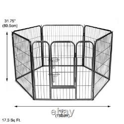 Doggy Style 6 Sided Heavy Duty Puppy Play Pen Whelping Dog Cage Fence Ds-hd03m