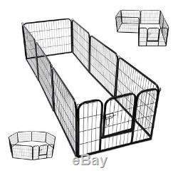 Extra Large Heavy Duty 8 Piece Puppy Dog Run Enclosure Welping Pen Playpen S247