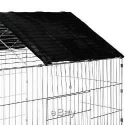 FoxHunter Pet Run Cage Rabbit Dog Outdoor Metal Playpen Hutch Kennel Shade PRC01