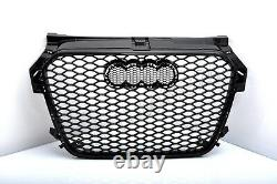Front Grill Look RS1 Black For Audi A1 8X 2010-14 Honeycomb Grill Cricket
