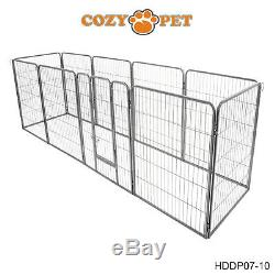 Heavy Duty Cozy Pet Puppy Playpen 1m High 10 Panel Large Run Crate Pen Dog Cage