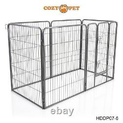 Heavy Duty Cozy Pet Puppy Playpen 1m High 6 Panel Run Crate Pen Welping Dog Cage