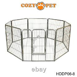 Heavy Duty Cozy Pet Puppy Playpen Run Crate Pen Welping Dog Cage 9 Sizes