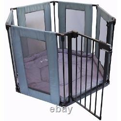 ISafe FABRIC Metal Baby Playpen 3in1 Fire Guard Room Divider Safety Gate