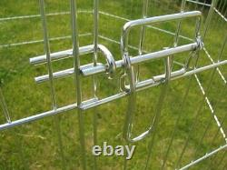 Large 8 Panel, Dog Puppy Rabbit Cage Run Play Pen Guinea Duck Chicken Enclosure