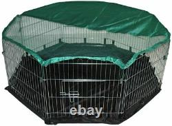 Large 8 Panel, Dog Puppy Rabbit Cage Run Play Pen Guinea Enclosure with FLOOR