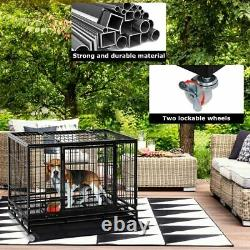 Large Dog Crate Dog Cage Dog Kennel Heavy Duty Pet Playpen for Training Outdoor
