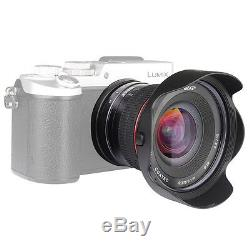 Meike 12mm f/2.8 Ultra Wide Angle Lens for Micro 4/3 GH3 GH4 EP5 PL6 PL7 PEN-7