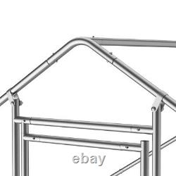 Metal Walk In Chicken Run Pen Coop For Poultry Hen Animal Cage Expandable +cover