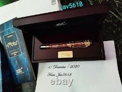 Montblanc Catherine II Patron Art F. Pen Gold, Limited Edition # 2933/4810 New