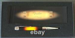 S. T. Dupont Fender Guitar Ballpoint Pen With Stand 265100, New In Box