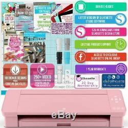 Silhouette Blush Pink Cameo 4 with 26 Oracal Glossy Sheets, Guides, 24 Sketch Pens