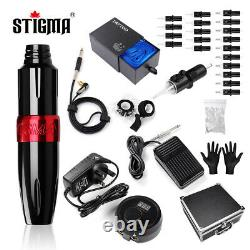 Tattoo complete kit rotay pen set 20 cartridge needles carry case power supply