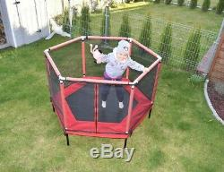 Trampoline for kids 2in1 Large Pool Playpen Safety Net Spring Cover Zipped Doors