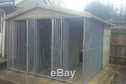 Triple dog kennel and run dog pen free on site erection