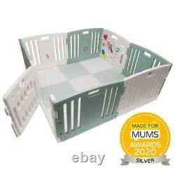 Venture All Stars Duo Baby Playpen Including Fitted Mats Blue