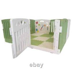 Venture All Stars Duo Baby Playpen Including Fitted Mats Green