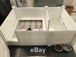 Whelping Box 48x 48 withPiggy Rails entry door and Rubber Liner Dog, Puppy, Pen