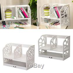 White Chic Home Office Wooden Desk Tidy Stationery Pen Holder Organiser Supplies