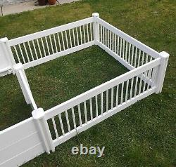 White Whelping Playpen PVC Flat Packed Dog Puppy Run Exercise Pen Fencing Box